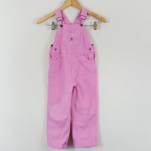 Carhartt Girl's Pink Cotton Overalls 4T
